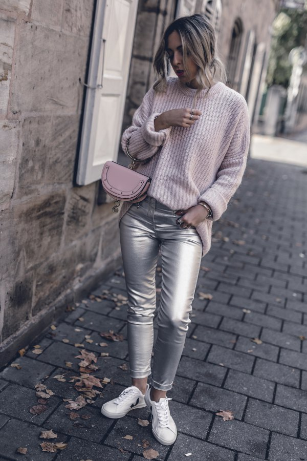 best silver pants outfit ideas
