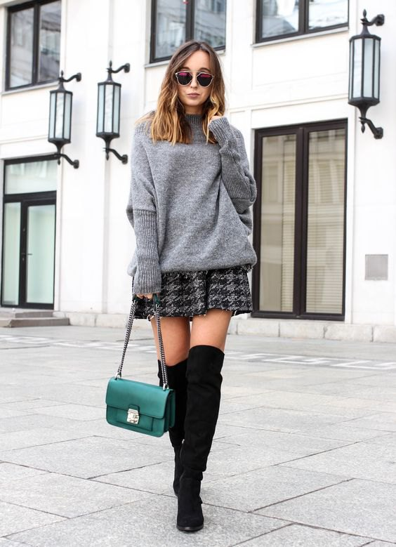 105ee2f647 How to Style Grey Sweater  15 Cozy Outfit Ideas for Women - FMag.com