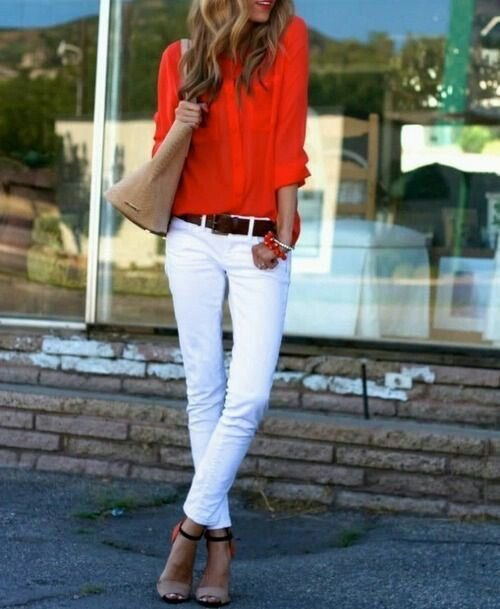 best orange shirt outfit ideas for ladies