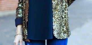 best gold blazer outfit ideas for women