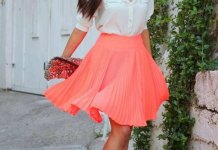 best pink pleated skirt outfit ideas