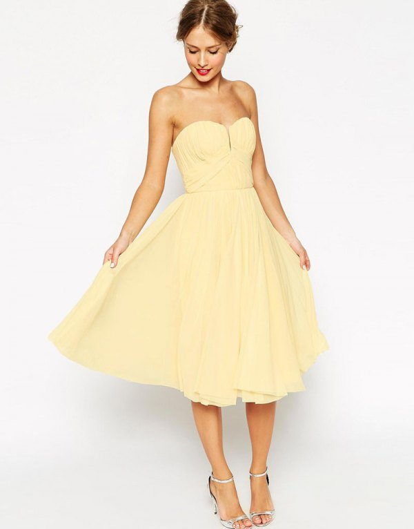 best pale yellow dress outfit ideas