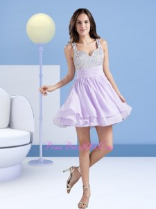 lavender mini skater dress with silver heels