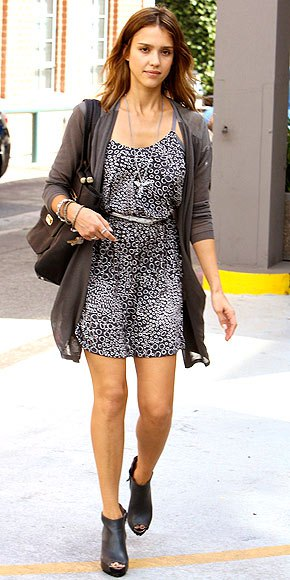 leather ankle boots with black and white leopard print belted mini dress