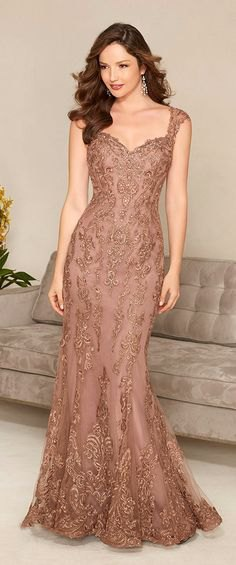 light brown lace mermaid maxi dress