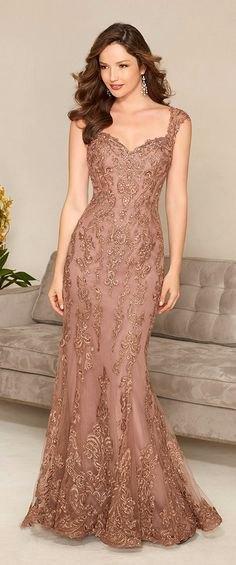 light brown lace mermaid maxi dress
