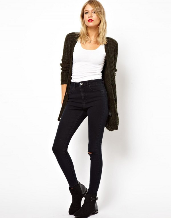 best tall jeans outfit ideas for women