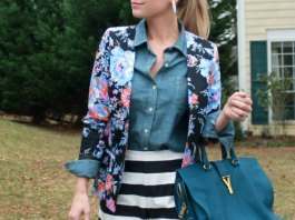 best floral blazer outfit ideas for women