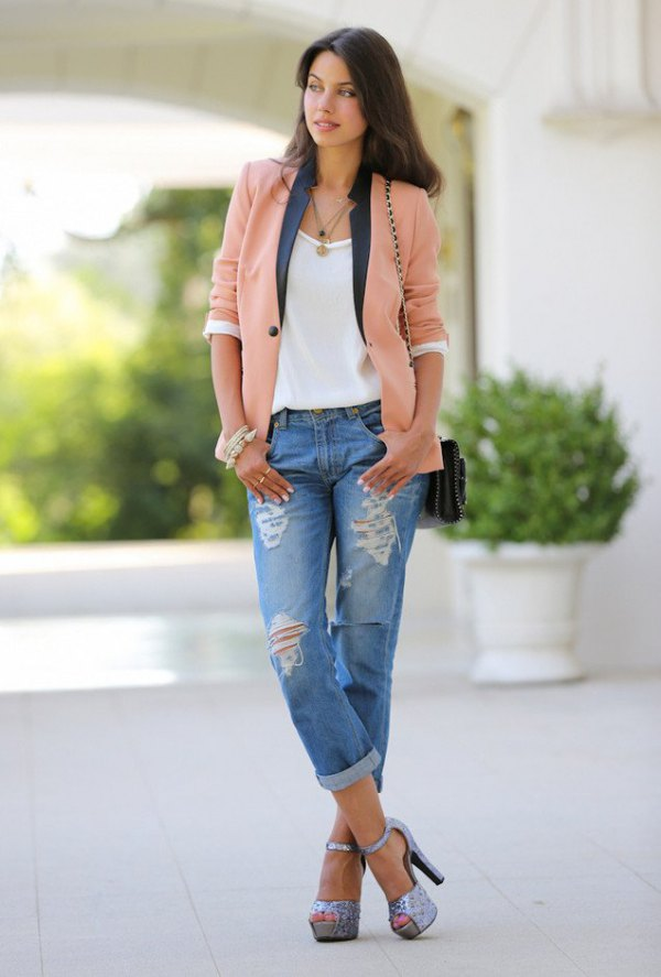 How to Style Casual Blazer: 15 Smart Business Casual ...