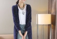 best navy blue cardigan sweater outfit ideas for ladies