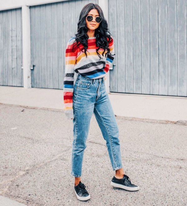 best flannel lined jeans outfit ideas for women