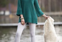 best green tunic top outfit ideas