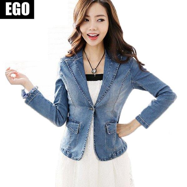 blue denim blazer with white dress