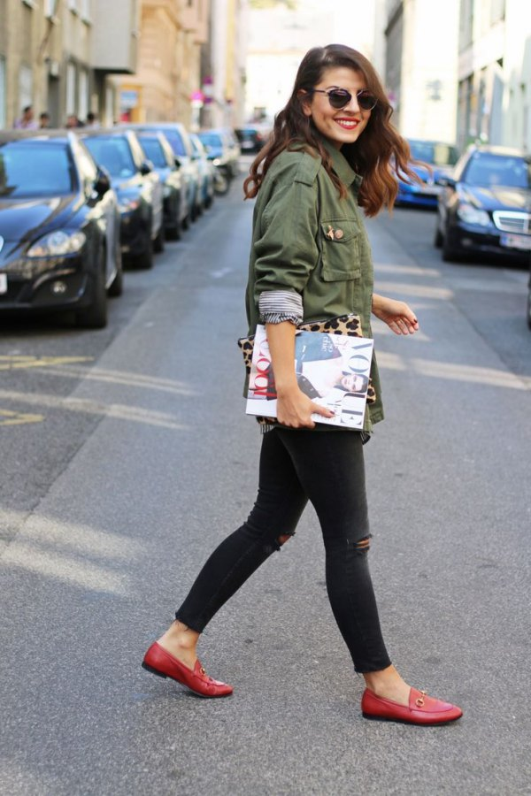 Womens Best looks with red loafers video