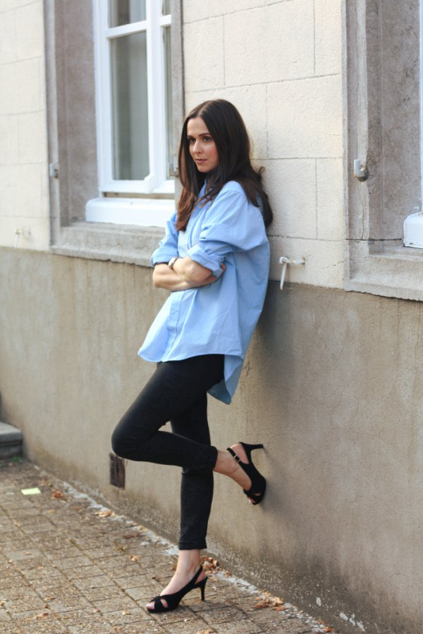 How to Style Oversized Shirt  Top 15 Outfit Ideas for Ladies - FMag.com 574dd1345ac4