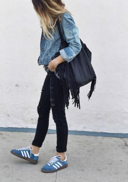 How To Wear Denim Shoes 13 Youthful Chic Outfit Ideas For Ladies
