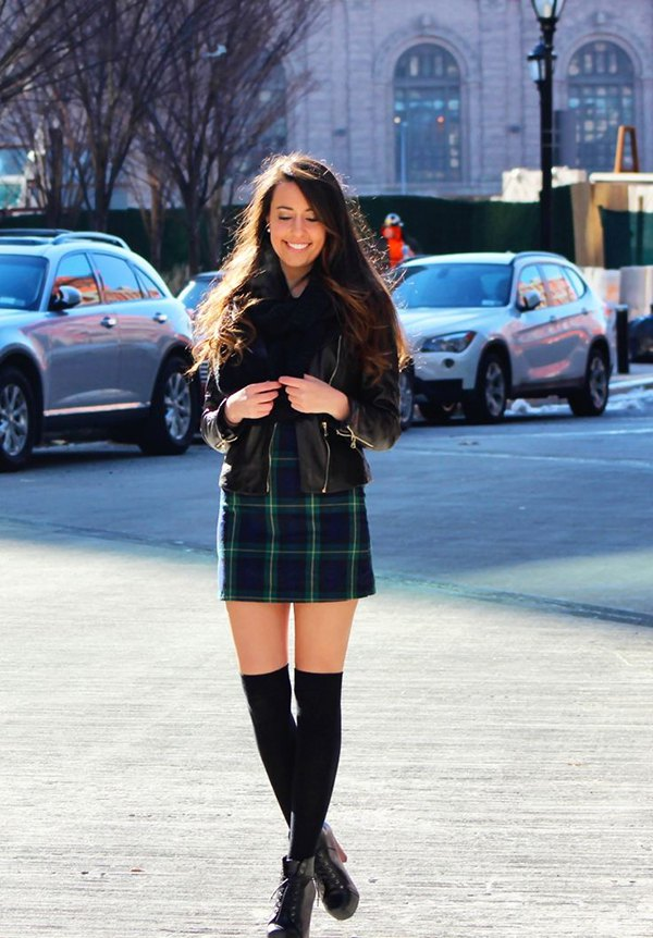 best thigh high tights outfit ideas for women