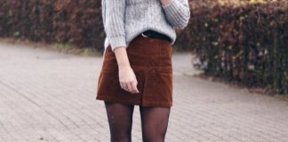 best corduroy mini skirt outfit ideas for women