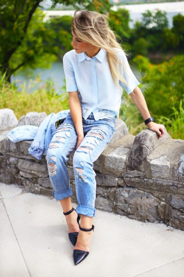 best short sleeve blouse outfit ideas for women