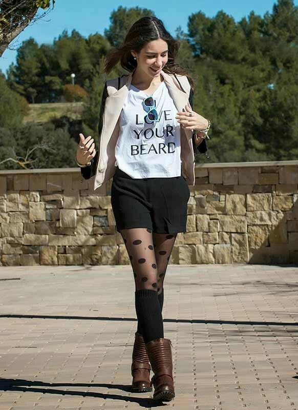 best polka dot tights outfit ideas for women