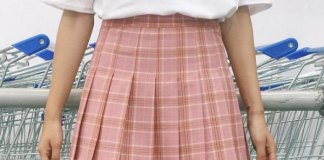 best plaid pleated skirt outfit ideas for women
