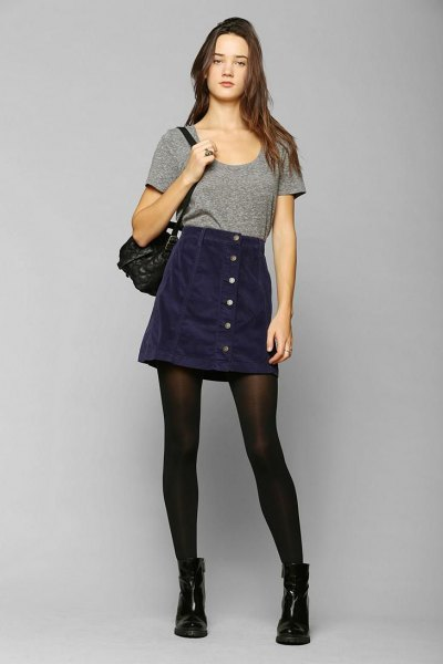 f4e07cdbb1 How to Style Corduroy Mini Skirt: Top 15 Outfit Ideas for Ladies ...