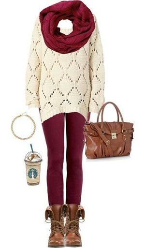 a1f0bf1b5fb How to Wear Burgundy Leggings  Top 13 Outfit Ideas to Look Tall ...