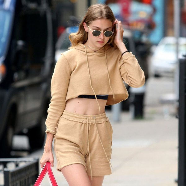 best sweatpant shorts outfit ideas for women