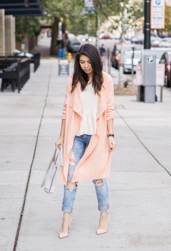 4a0d7600b4c Top 15 Pink Cardigan Outfit Ideas  How to Dress in Ladylike Ways ...