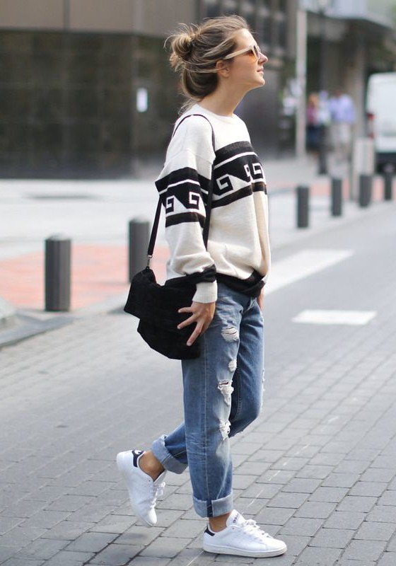 Image result for boyfriend jeans outfit