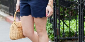 best navy blue shorts outfit ideas for women