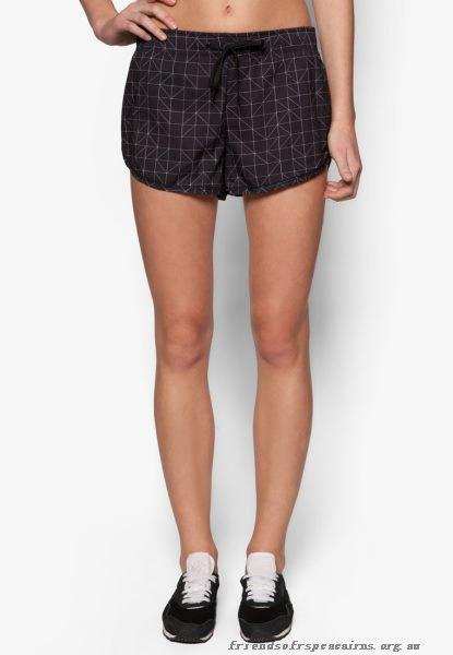 black and white checkered mini sweat shorts and sports bra top
