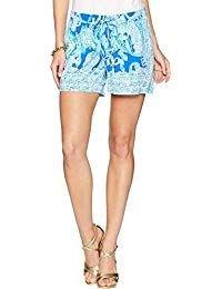 blue tribal printed mini sweatpant shorts with white tee