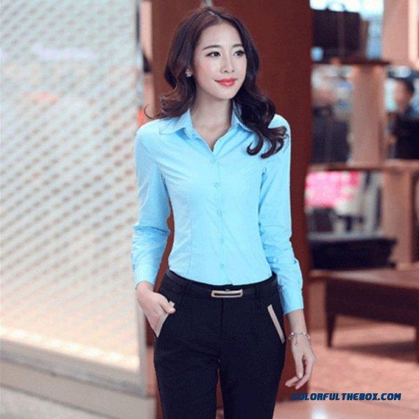 light blue slim fit shirt with black chinos
