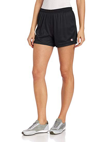 white fitted cotton tee with black mini jogging shorts