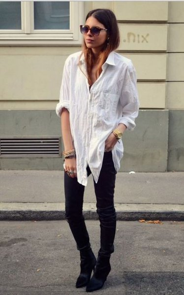 0be2d521 Best 13 Oversized White Shirt Outfit Ideas for Women - FMag.com