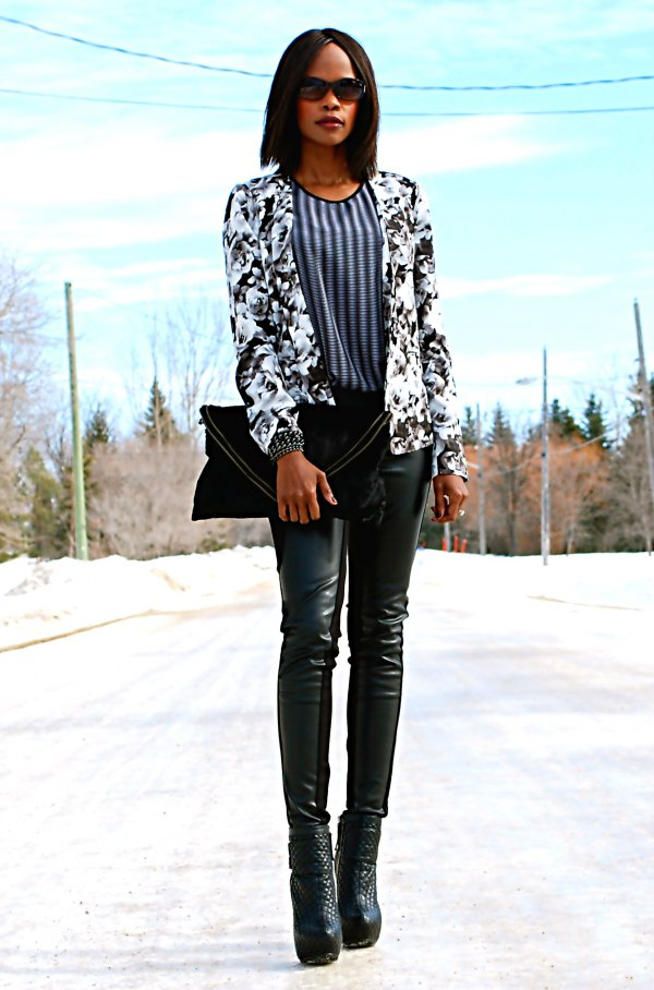 best black and white blazer outfit ideas for women