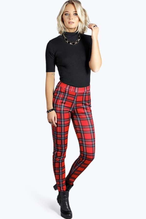 best plaid skinny pants outfit ideas for ladies
