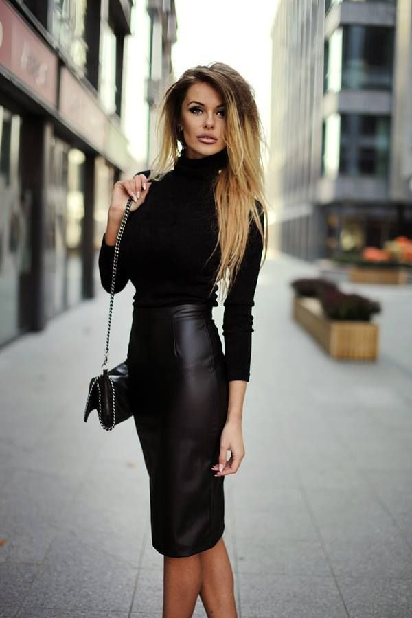 9fddc0eea Best 15 Faux Leather Skirt Outfit Ideas for Women - FMag.com