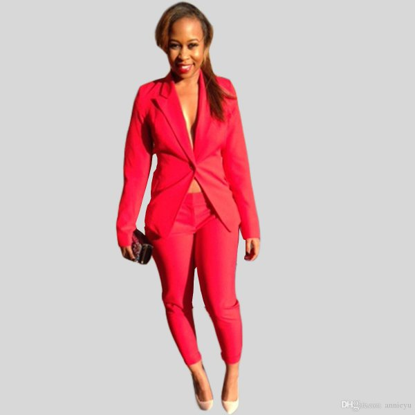 red suit jacket without blouse