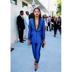 royal blue and black suit jacket without shirt