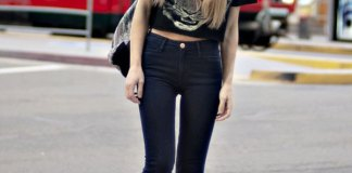 best high waisted black skinny jeans outfit ideas for women