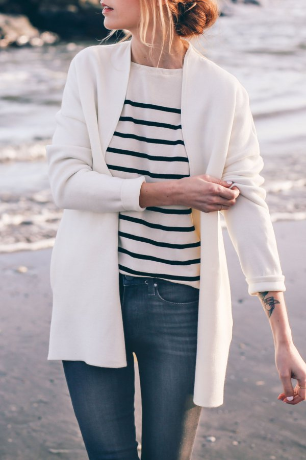 How to Style White Cardigan Sweater Best 13 Refreshing