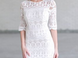 best white lace midi dress outfit ideas for women