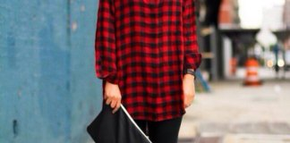 best red flannel shirt outfit ideas for ladies