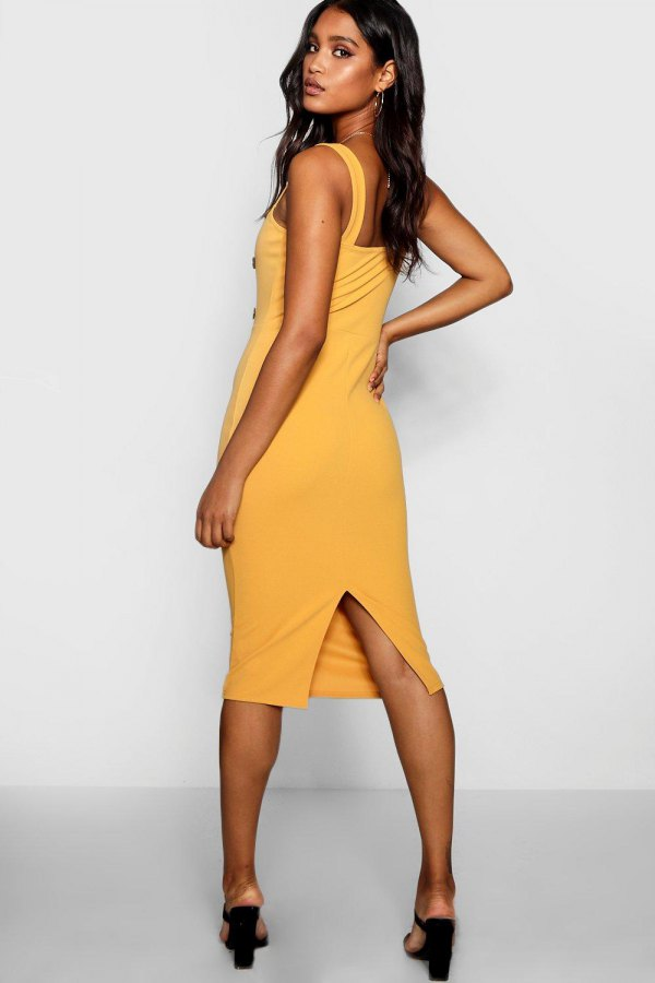 52dbc289e8da How to Wear Yellow Midi Dress: Best 13 Cheerful & Breezy Outfit ...