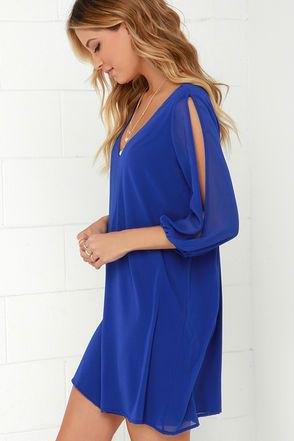 long sleeve cutout long sleeve mini shift v neck dress
