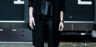 best black leather shoes outfit ideas for women