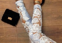 best lace jeans outfit ideas for women