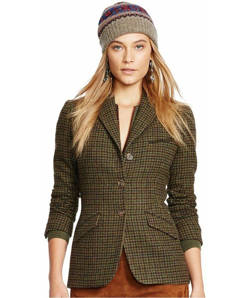 grey tweed slim fit golf jacket with green velvet mini skirt